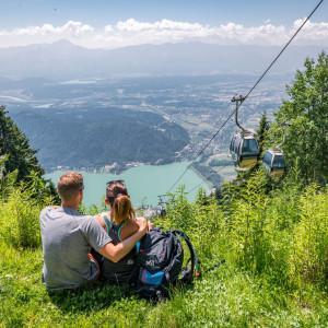 Per Seilbahn auf die Gerlitzen Alpe