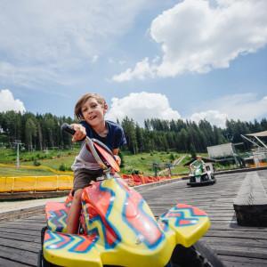 Spaß mit Mini-Elektro-Gokarts im Funpark Gerlitzen Kanzelbahn