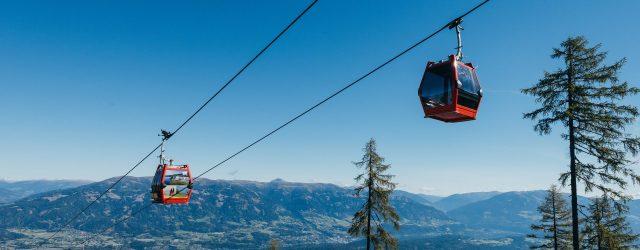 """Vom Tal (547 m) geht es mit der modernen Talbahn Goldeck direkt auf den Berg (1.780 m) – den Hausberg von Spittal an der Drau. """"Oben"""" ist es ideal fürs Wandern, Nordic Walking, Trail Running, Biken oder einfach genießen und …"""