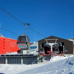 Die Bergstation der Eisseebahn auf 2.800 m