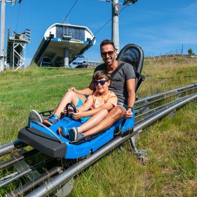 Spaß für Klein & Groß - der Nocky Flitzer, die Alpen-Achterbahn auf der Turracher Höhe