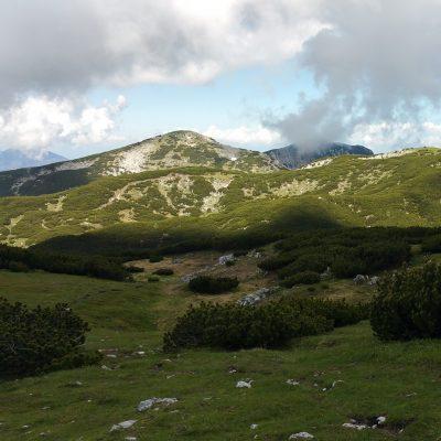 Prächtige Berglandschaft zwischen Kordeschkopf (2.126 m) und Knieps (2.110 m)
