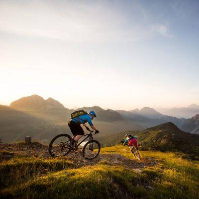 Mountainbike-Vielfalt in prächtiger alpiner Natur - am Nassfeld