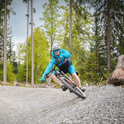 """Der neue Mountainbike Flowtrail """"MEX – Line 1"""". Er führt von der Bergstation der 1. Sektion des Millennium-Express talwärts"""