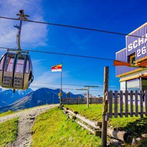 Die Seilbahn-Bergstation am Schareck, auf 2.600 m