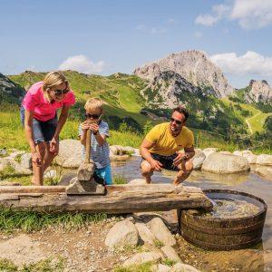 Nassfeld - der Aqua Trail mit Start auf der Madritsche verspricht Spaß und Erlebnis für Kids