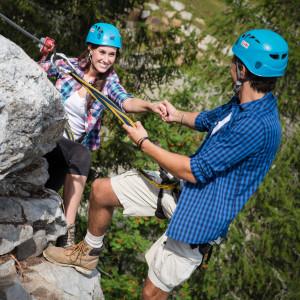 Nassfeld - das Felsenlabyrinth bietet ideale Übungsmöglichkeiten für Klettersteig-Einsteiger