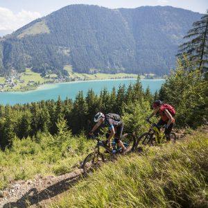 Weissensee - Biken auf lässigen Naturtrails mit Seeblick