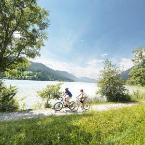Weissensee - neben den Naturtrails gibt es am Weissensee zahlreiche weitere Mountainbikestrecken, etwa am See entlang