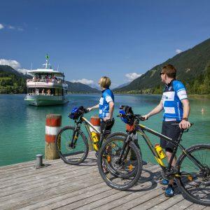 Weissensee - Biken & mit dem Schiff fahren - eine beliebte Erlebniskombination