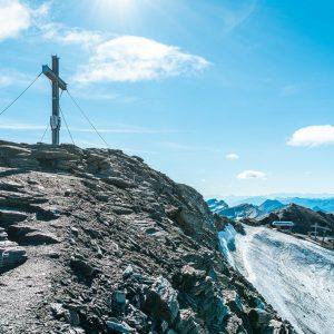 Das Schareck (3.123 m) - der höchste Punkt am Mölltaler Gletscher