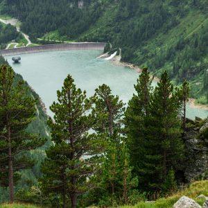 Blick auf den Hochwurtenspeichersee am Mölltaler Gletscher