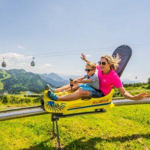 Nassfeld - die Sommerrodelbahn Pendolino beim Millennium Express bietet Spaß für die ganze Familie
